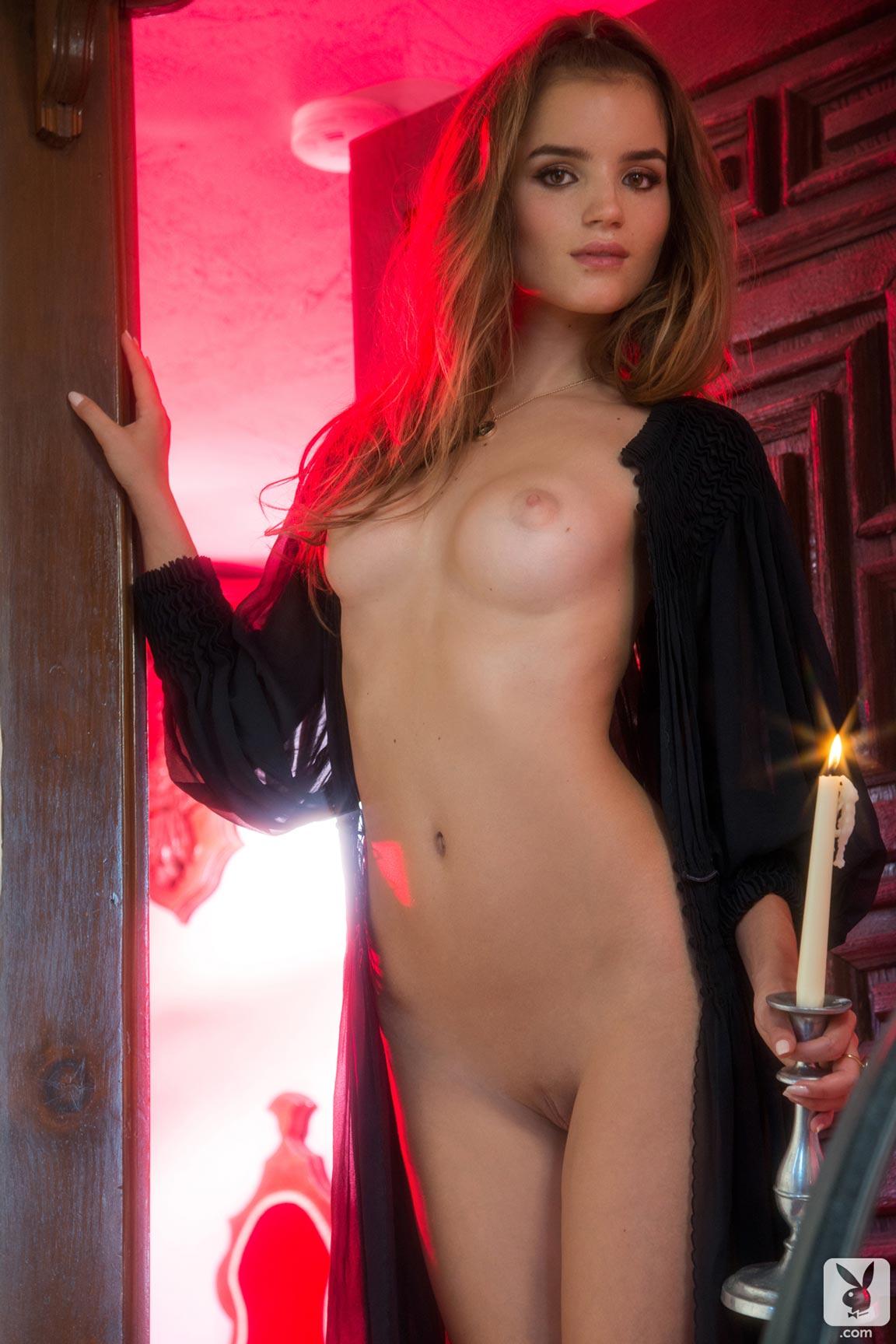Playboy playmate Ross Van Montfort undresses one delicate ...