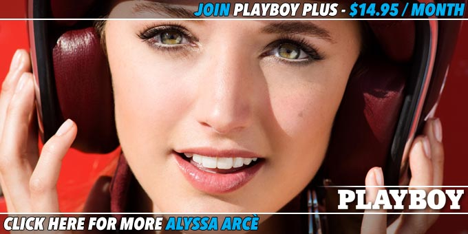 Playmate Alyssa Arce Slow Emotion Banner