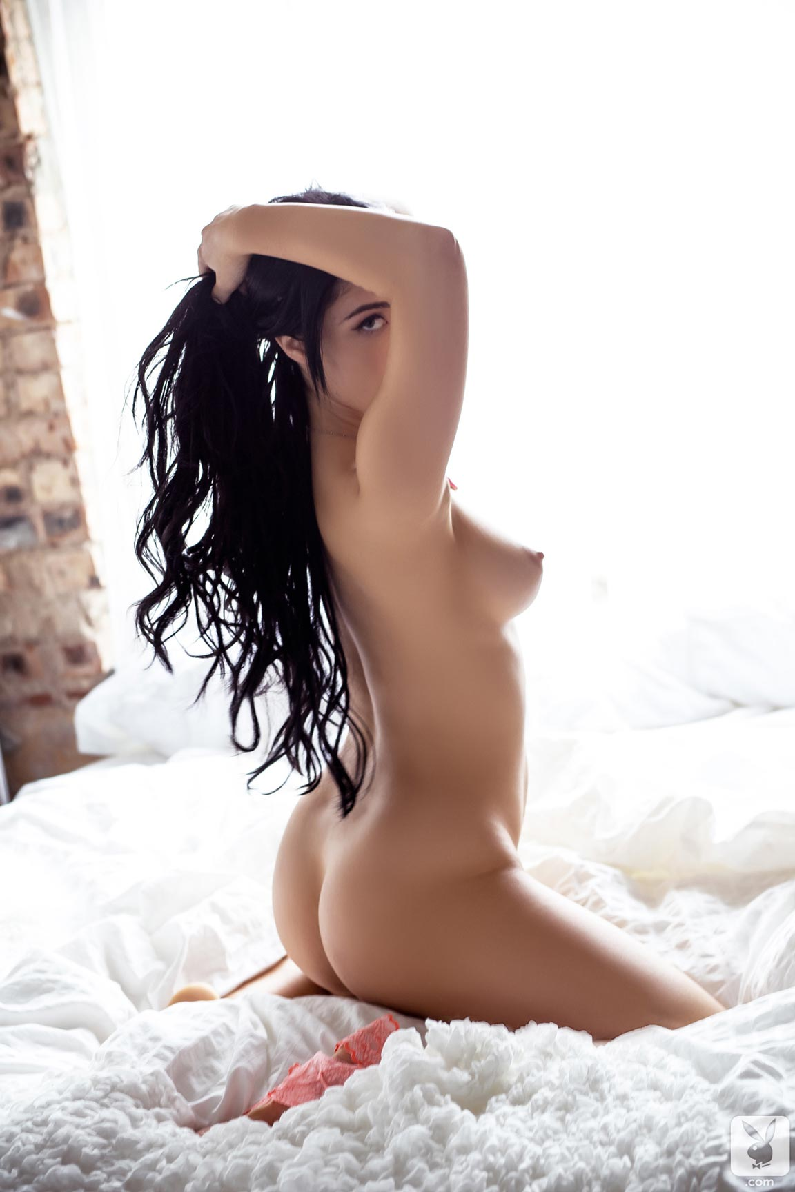 Cybergirl of the Month Lana James strips naked and spreads ...