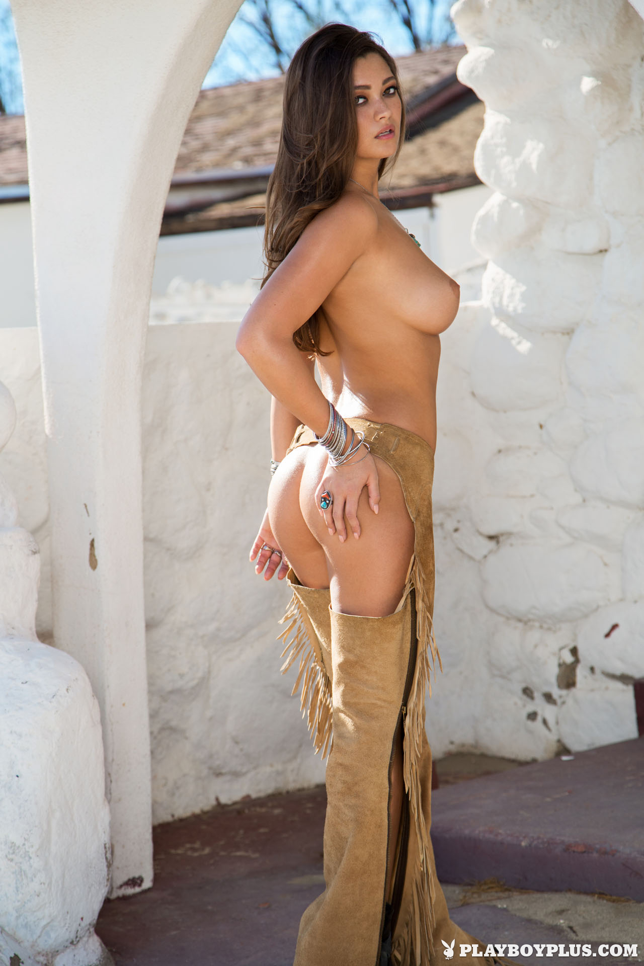 naked older women in chaps